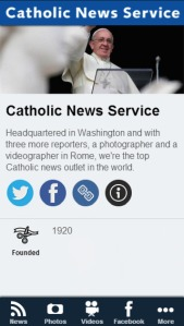 Catholic News Service app