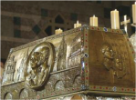 Reliquary of Blessed Louis and Zelie Martin, to be canonized in October.