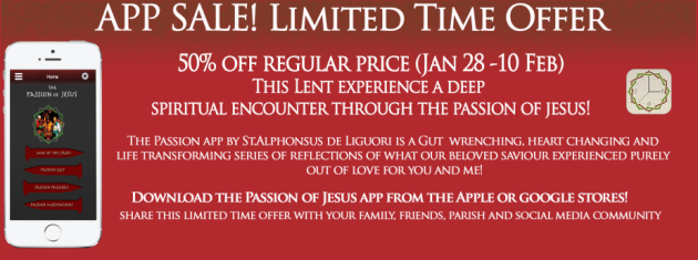 Passion of Jesus-Sale-Lent-2016
