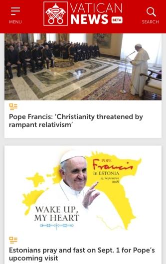 vatican news screen shots