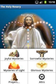holy rosary app screen
